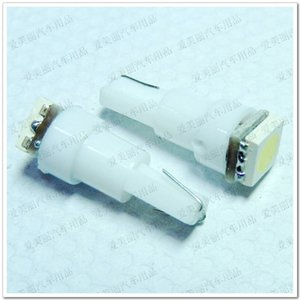 도매 300Pcs T5 1 LED 5050 1 smd 자동차 조명 LED 전구 T5 램프 대시 표시 등 전구