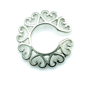 Brand New Nipple Rings Fashion Silver Heart To Heart Circle Nipple For Women Fake Body Piercing Jewelry