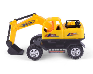 The model toy car of the children simulation excavator model of the inertial engineering truck