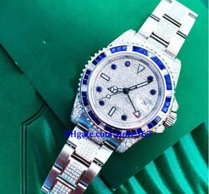 Presente de Natal relógios mens watch 116710 116710LN diamondsapphire Disque relógios de fronteira Máquinas automáticas Trazer a mais alta qualidade origina