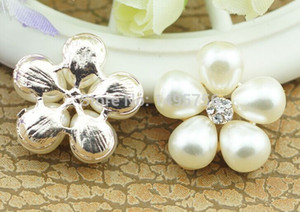 Завод цветок жемчуг горный хрусталь украшения кнопка шарм с хвостовиком для цветок центр повязки, мобильный телефон случае аксессуары