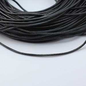 Beadsnice cavo di cuoio nero cavo di cuoio naturale spessore 3mm per il braccialetto della collana dei monili di DIY che fa l'identificazione 3453 della stringa