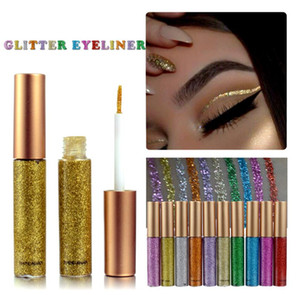Glitter Liquid Eyeliner Portable Shining Makeup Liquid Eye Liner Pencil Long-lasting Quick Dry Beauty Cosmetic Shiny Eyeliner
