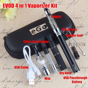 1 개 허브 기화기 키트 EGO MAH 4 650 900 1,100 MAH MAH 510 배터리 다중 화기 유리 왁스 CE3 vape 카트리지 4IN1 Vape 펜 키트 프라이팬