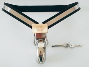Dispositivo de Castidade masculino Modelo-Y cinto de Cinto De Aço Inoxidável Ajustável com Plug Anal brinquedos sexuais J1812