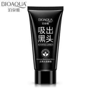 BIOAQUA Bamboo Charcoal Black Mask Cuidado de la cara Limpieza profunda Purificante Espinilla 3 Steps Black Head Remover Máscara de la nariz para el acné