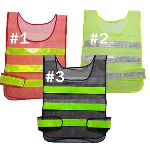 2020 Nuova Sicurezza Indumenti riflettenti Gilet Hollow griglia di maglia di sicurezza Attenzione ad alta visibilità di lavoro Costruzioni stradali giubbotto