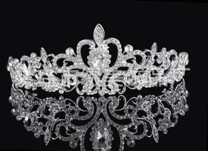 corone di uccelli Nuove fasce per capelli Fasce per capelli Copricapi Accessori per gioielli da sposa Accessori Cristalli d'argento Perle strass HT06