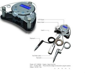 Großhandel-freies Verschiffen Top Tatoo Netzteil für Tattoo Maschinengewehre Permanent Makeup Maschine Stromversorgung LED Digital Tattoo Power