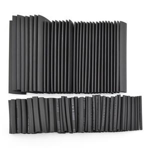 320pcs 8 tailles 1.0 / 2.0 / 3.0 / 4.0 / 6.0 / 8.0 / 10.0 / 13.0mm Tube thermorétrécissable, thermorétractable, enveloppe de fil noir