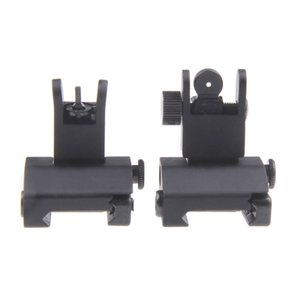 Up High Up Back Airsoft Arms Gear Quality AR15 Tactical Front Funpowerland Rear And Flip Hunting Precision Iron Sight Shipping Free Mpegd