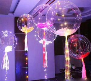 Yeni bobo topu dalga led çizgi dize balon işık Noel Cadılar Bayramı Düğün parti çocuklar için renkli ışık ile ev Dekorasyon LLFA