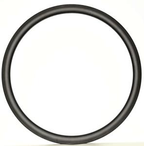 Spedizione gratuita Carbon Single Rim 700C 38mm Profondità 23mm Larghezza Leggero Ruota in carbonio Copertoncino / tiubular Road Bike Rim 3k / UD tessere