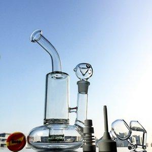 base de la boya de vida Dab plataforma Tornado PERC pipas de agua de la turbina de disco Perc Bong Vortex al reciclado del vidrio de cuarzo plataforma giratoria Cubo Miel con WP146 brazo