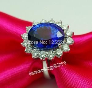005 Victoria Wieck Zafiro deslumbrante Diamante simulado Piedras preciosas 10kt Anillo de bodas real lleno de oro Sz 5-10