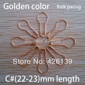 Wholesale-free shipping 1000pcs lot C# 22mm length metal pear shaped gold safety pins steel brooch pin 4 colors for choose