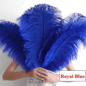 الأزرق الملكي النعامة الريشة العديد من أحجام زينة الزفاف محور حزب النعامة الريشة النعامة بلوم مناسبات الزفاف محور