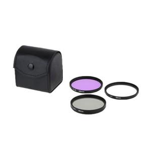 3 peças 58mm uv + cpl + kit de filtro de lente FLD com o caso para canon nikon sony dslr camera