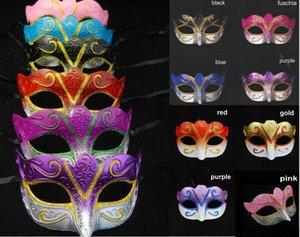 máscaras del partido de la mascarada veneciana Máscara de Halloween Carnaval Sexy Dance máscara cosplay de color de la boda elegante mezcla de dones
