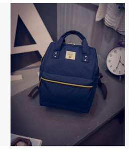 7 renkler Anello marka sırt çantaları yüksek kalite bayanlar küçük boy omuz çantaları Pamuk Polyester rahat okul çanta Bilgisayar Sırt Çantası