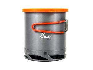 Al aire libre Camping Picnic Cookware 1L Intercambiador de Calor Pot Kettle FMC-XK6