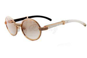 Аутлет новые естественные черные и белые рожки ноги тоже очки, 7550178 высококачественные солнцезащитные очки, размер: 55 -22-140mm РЕТРО очки,