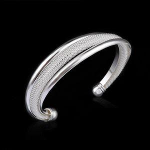 Jewelry Hot 10pcs lot Factory Price Fine Fashion Noble Bangle 925 1008 Mesh Bracelet Silver Gift Charm Xfwuw
