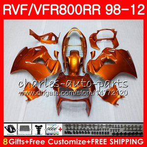 VFR800 Für HONDA Interceptor VFR800RR 98 99 00 01 02 03 04 12 Orange glänzend 90HM9 VFR 800 RR 1998 1999 2000 2001 2002 2003 2004 2012 Verkleidung