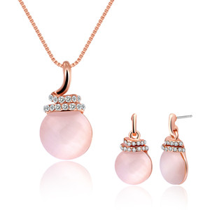 Moda jóias colar brincos conjunto de jóias semi - pedras preciosas conjunto de jóias presentes de aniversário presente de natal presente do dia dos namorados