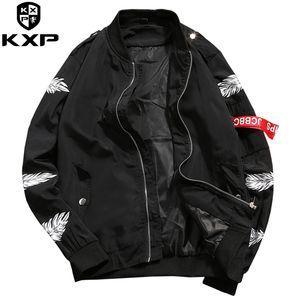 Atacado-kxp 2017 novos homens jaqueta bomber hip hop fita slim fit piloto jaqueta bomber casaco homens jaquetas plus size 4xl