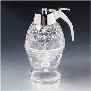 Atacado-2015 venda quente 200ml mel dispenser mel frasco de vidro / pote de mel pote de mel