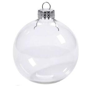 Wedding 80 millimetri gingillo Natale ornamenti di natale palline di vetro decorazione palle di Natale di vetro chiaro da sposa ballsChristmas albero sfere di vetro