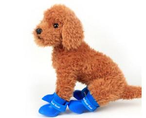 Wholesale Candy Colors Shoes For Dog Pet Shoes PVC Pet Outdoor Rain Shoes Dog Rain Boots