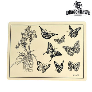 Tattoo Beginner Practice Faux Skin Synthétique 8 x 6 Design WS031-6