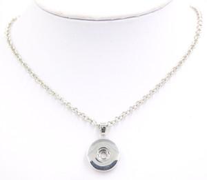 Großhandel DIY Snap Schmuck Metallkette mit 18mm Snap Anhänger Halskette Snaps Halskette für Snap Schmuck