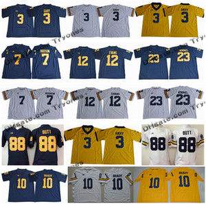 2018 Michigan Wolverines 3 Rashan Gary 88 Jake Butt 12 Chris Evans 23 Kinnel 7 Khaleke Hudson 10 Tom Brady College Football Jersey