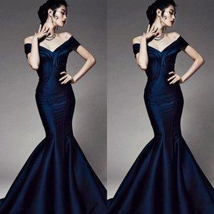 2020 Nueva Vestidos vestidos de noche de la sirena simple del hombro del corsé sin respaldo vestidos formales partido formal de los vestidos de noche de encargo baratos 276