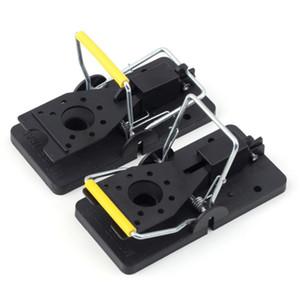 NUEVA trampa reutilizable para trabajo pesado Snap-E Mouse Trap-Easy Set Catcher Catcher Mouse Trap Ratones Trap Black para el hogar Útil