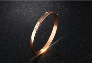 Новый высокое качество женские мужские браслеты из нержавеющей стали 316L браслеты девушки золотые браслеты простой дизайн любителей браслеты цистал