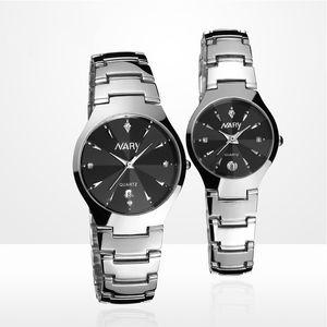 2017 New arrive Fashion Men Watch Steel Quartz waterproof Watch Calendar Display Men & Women Rhinestone Watches