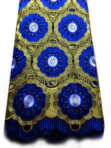 Freies Verschiffen hochwertige Hochzeitsspitze African Fabric 5 Yards 100% Baumwolle Schweizer Voile-Spitze-0130