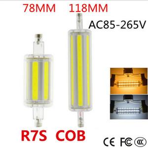 R7S luzes LED AC85V-265V 15W 30W Regulável COB lâmpadas LED Warm White White Light halogênio holofote substituição