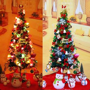 1.2M Árbol de Navidad Artificial PVC Decoraciones de Navidad de Navidad Árbol de Navidad Luminoso con Luz de LED Estrella de Copo de Nieve Envío Gratis
