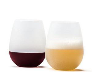 New Design Fashion 2015 Unbreakable clear Rubber Wine Glass silicone wine glass silicone wine cup wine glasses