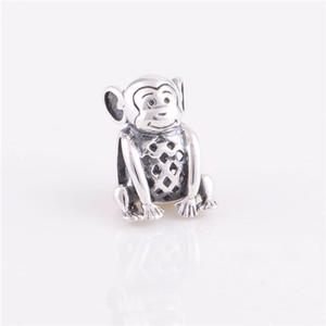 925 Sterling Silver Perle Charmant Singe Charme Femmes Bijoux DIY S'adapte Chamilia Charmes Bracelet Drop Shipping