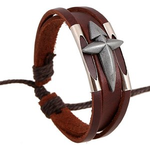 Fashion Genuine Leather Bracelet Cowskin Handcrafted Unisex Retro Punk Fashion Bracelets Charm Bracelet Man Wowen Bracelets Hot Sale