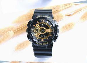 Brand sanda Golden multi-function luminous electronic watch sports watch student watches