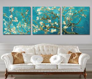 Pintura de parede 3 Pcs Retratos Da Parede Moderna Van Gogh Árvore Home Decor Flor Pintura Da Arte Da Lona Imagem Pintura Na Lona (Sem Moldura)