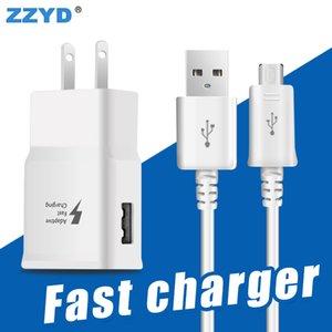 ZZYD para Samsung S7 Note8 Fast Wall Charger 2.1A EU US Kit de adaptador rápido con micro cable
