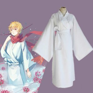 Anime Noragami Yukine Cosplay Disfraz Kimono Blanco Yukata (Ropa + Cinturón) Ropa de Fiesta Talla S-XL